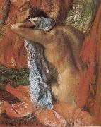 bathing lady Edgar Degas