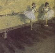 ballerina being practising Edgar Degas