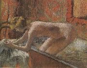 After bath Edgar Degas