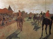 a group of Racehorse Edgar Degas