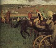 amateurish caballero on horse-race ground Edgar Degas