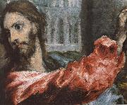 Detail of  The Christ is driving businessman in the fane El Greco