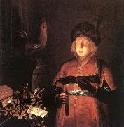 Young Man with a Candle Gobindram Chatera