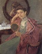 Lady in front of the dressing table Mary Cassatt