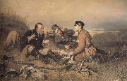 Hunters at Rest Vasily Perov