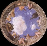 Detail of Ceiling from the Camera degli Sposi Andrea Mantegna