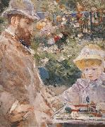 Detail of Manet and his daughter Berthe Morisot
