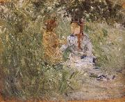 Mother and her son in the garden Berthe Morisot