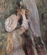 Detail of peach trees Berthe Morisot