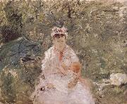 The biddy holding the infant Berthe Morisot