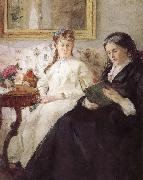 Artist-s monther and his sister Berthe Morisot