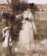 Detail of Hide and seek Berthe Morisot