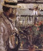 Detail of  The man at the Huaiter Island Berthe Morisot