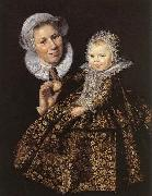 Catharina Hooft with her Nurse Frans Hals