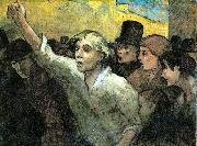 The Uprising Honore  Daumier