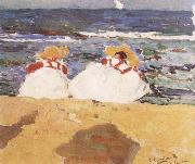 The Beach at Valencia Joaquin Sorolla Y Bastida