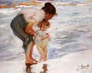 On the Beach Joaquin Sorolla Y Bastida
