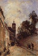 Rue de L-Abbe-de l-Epee and Church Johan Barthold Jongkind