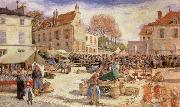 The Market Outside Pontoise Town hall Ludovic Piette