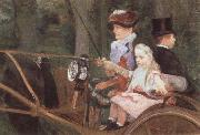 A Woman and Child in the Driving Seat Mary Cassatt