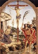 The Crucifixion with Sts Jerome and Christopher Pinturicchio