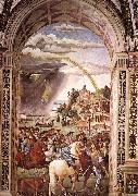Aeneas Piccolomini Leaves for the Council of Basle Pinturicchio