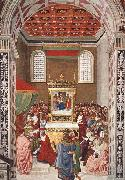 Piccolomini Receives the Cardinal Hat Pinturicchio