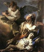 The Angel Succouring Hagar TIEPOLO, Giovanni Domenico