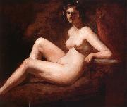 Reclining Femal Nude with Her Arm on a ledge William Etty