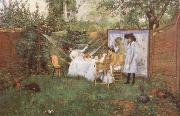 The Open air Breakfast William Merrit Chase