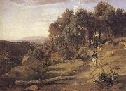 A view of the burner of Volterra camille corot