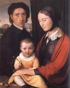 The Artist with his Family Friedrich overbeck