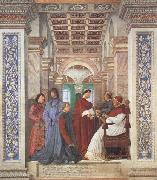Pope Sixtus IV appoints Platina as Prefect of the Vatican Library (mk45) Melozzo da Forli