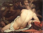 venus with a satyr and cupids Annibale Carracci