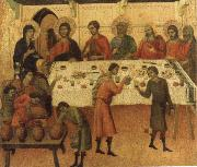 The marriage Feast at Cana Duccio
