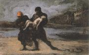 the rescue Honore Daumier