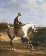 miss cazenove on a grey hunter Jacques-Laurent Agasse