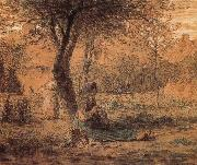 Country yard Jean Francois Millet