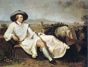 goethe in the campagna johann tischbein