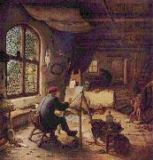 The painter in his workshop Adriaen van ostade