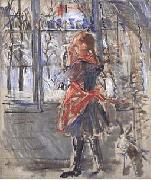 L Enfant au Tablier Rouge, a sketch Berthe Morisot