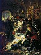 Agents of the False Dmitry kill the son of Boris Godunov Konstantin Makovsky