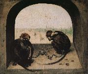 2 monkeys Pieter Bruegel