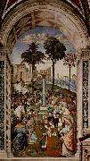 Fresco at the Siena Cathedral by Pinturicchio depicting Pope Pius II Pinturicchio