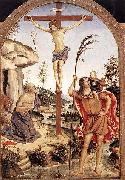 The Crucifixion with Sts. Jerome and Christopher, Pinturicchio