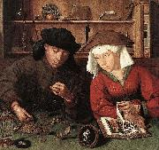 The Moneylender and his Wife Quentin Matsys