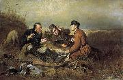 The Hunters at Rest Vasily Perov
