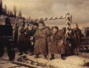 At the railroad Vasily Perov
