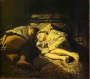 Sleeping children Vasily Perov