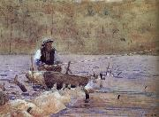 Anglers on the boat Winslow Homer